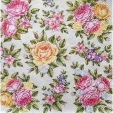 Розы на беж-Р 33*33